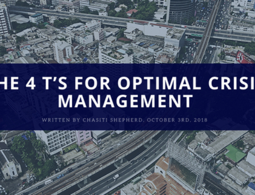 The 4 T's For Optimal Crisis Management